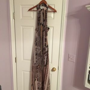 Long halter top dress